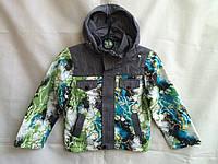 Куртка детская демисезонная на мальчика 6-10 лет,зеленая