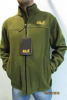 Мужская толстовка Jack Wolfskin 6119 горчичная флисовая код 181в