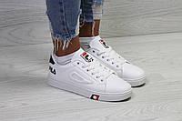 Женские кроссовки  Fila, белые. Код товара: Д - 6248