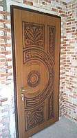 Двери входные с патинированной МДФ, фото 1