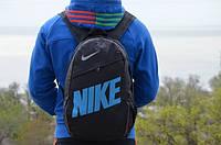 Рюкзак NIKE черный, синий логотип