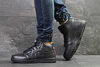 Мужские зимние кроссовки на меху Nike Air Jordan, тёмнo-cиние