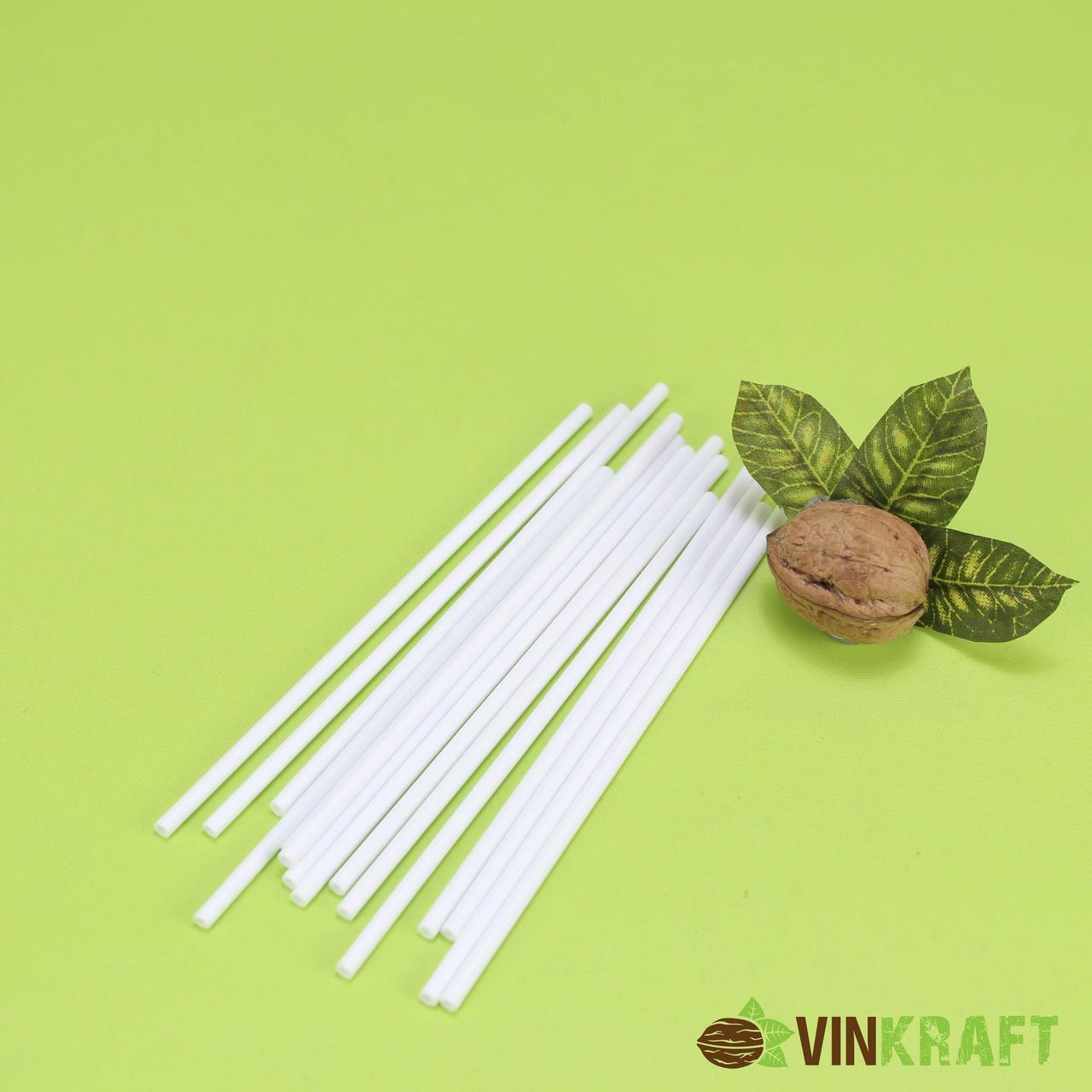 Палочки для кейк попсів 150 мм (50 шт), білі