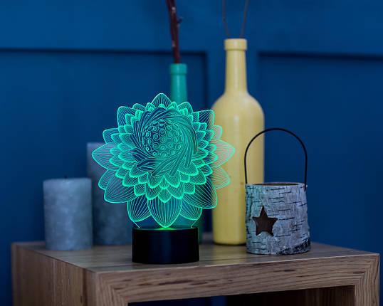 """Сменная пластина для 3D светильников """"Лотос 2"""" 3DTOYSLAMP, фото 2"""