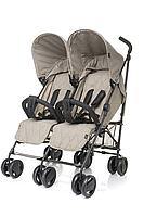 Детская прогулочная коляска для двойни 4baby TWINS Beige