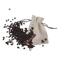 Мішечки з текстилю з коричневою стрічкою (13,5х17,5), фото 1