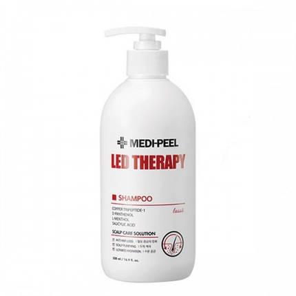 Укрепляющий шампунь с пептидами MEDI-PEEL LED Therapy Shampoo, 500 мл., фото 2