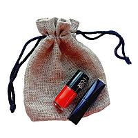 Подарочные мешочки из льна с черным шнурком (13,5х17,5), фото 1