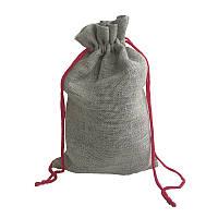 Подарочные мешочки из льна с оранжевым шнурком (20х33 см), фото 1