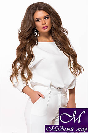 Женский брючный костюм белый (р. 42-44, 44-46) арт. 27-843, фото 2