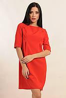 Платье прямого силуэта для настоящей леди – лаконичное и элегантное, декоративные рельефы, костюмная ткань