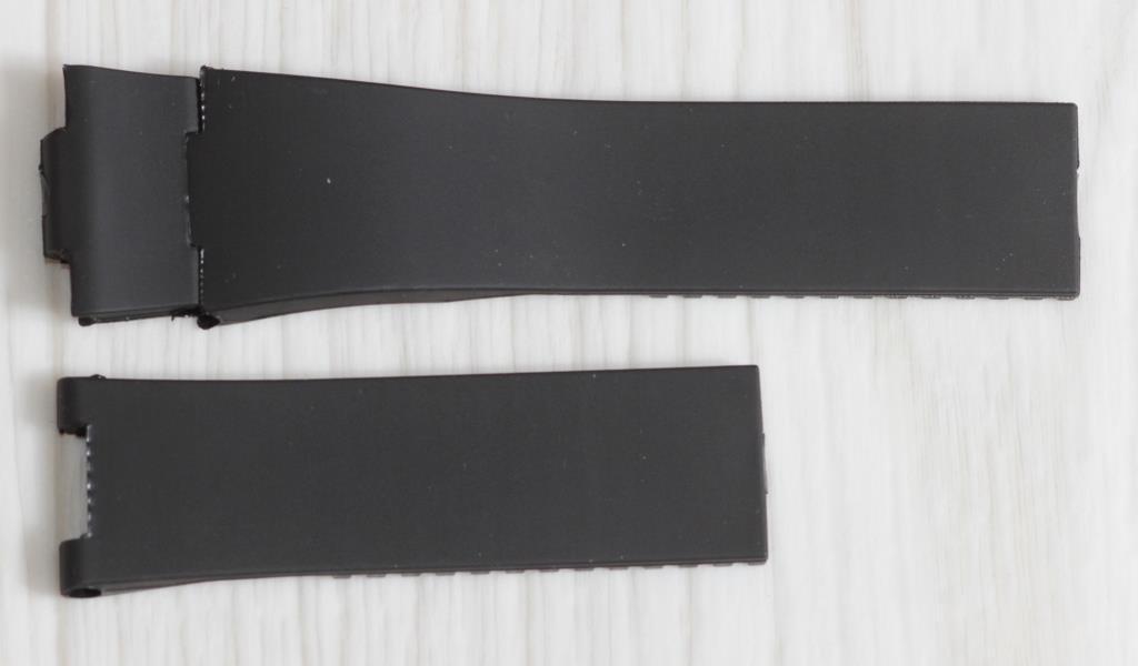 Ремешок Силиконовый для часов Ulysse Nardin 25 мм. Черный