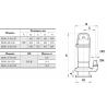Дренажный насос Sprut QDX 1,5-32-0,75 объемная подача: 8 м³/ч напор: 33 м, мощность: 1400 Вт, фото 3