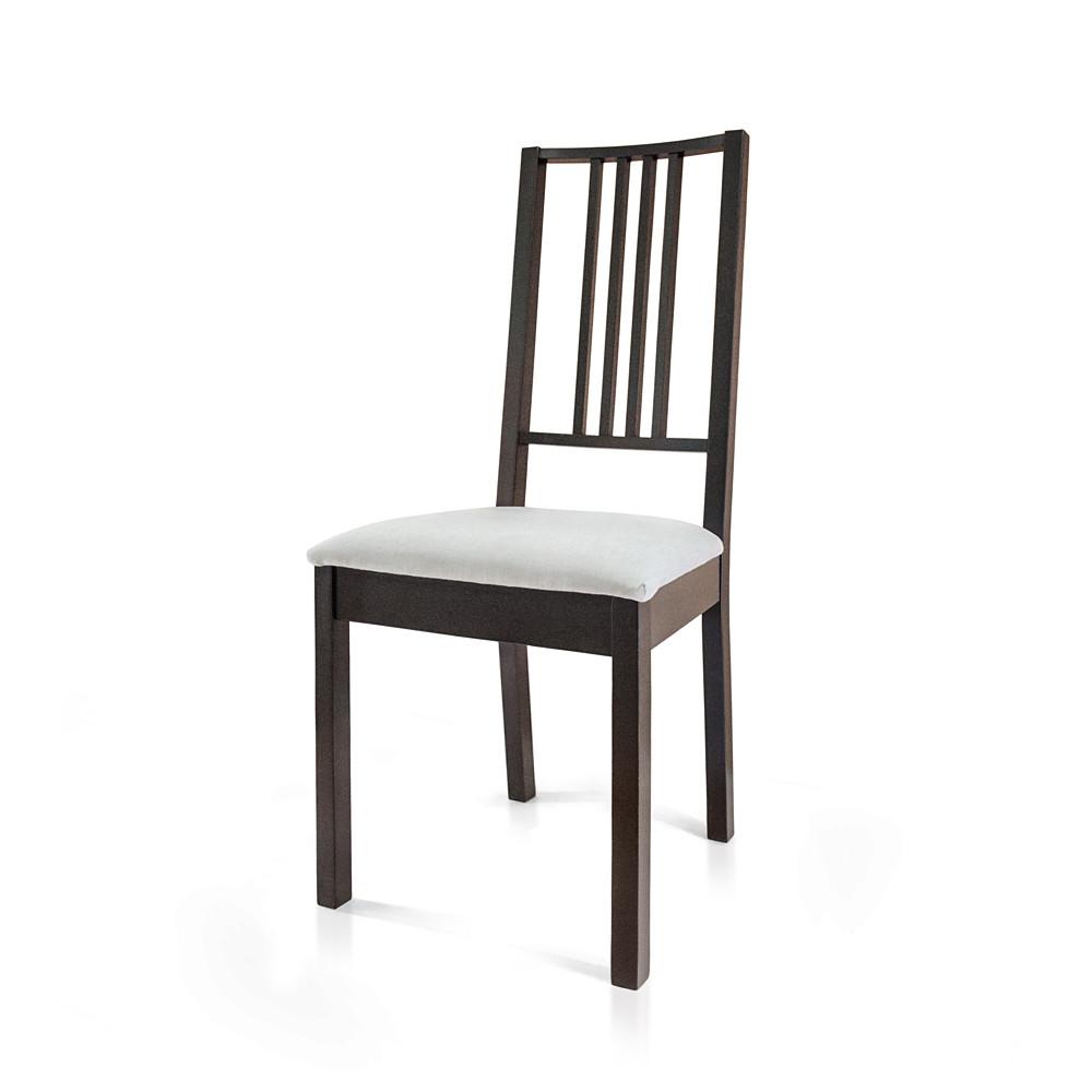 """Стілець """"Проза"""", бук, м`яке сидіння (сірий), чорний (венге)"""