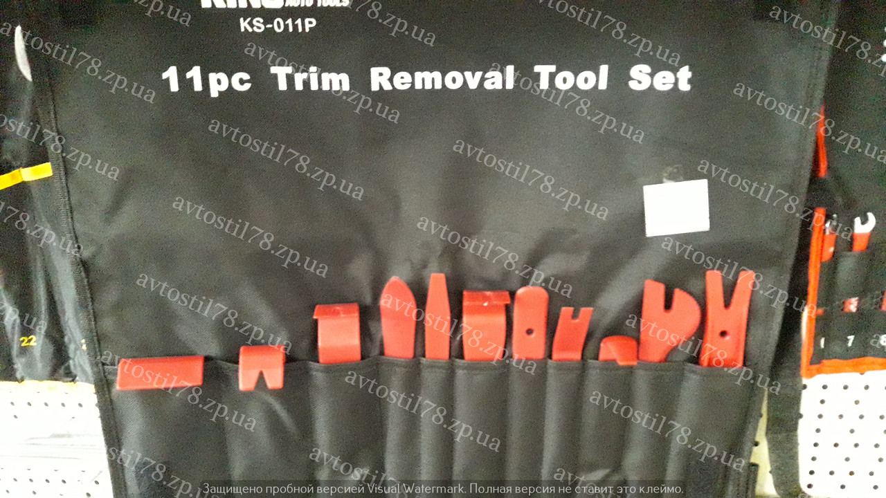 Съемник для демонтажа обшивки салона 11 предметов KS-011P