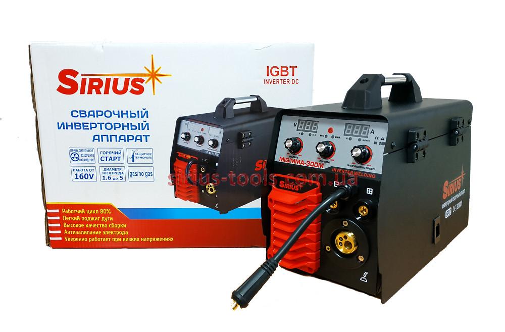 Зварювальний напівавтомат Сіріус MIG/MMA-300М