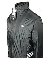 Мужская ветровка,куртка adidas на тонком синтепоне   р-р 46-52,черная.Предоплата