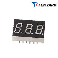 Красный цифровой LED индикатор 3-разрядный FYT-3631 AS-21 FORYARD (общий катод)