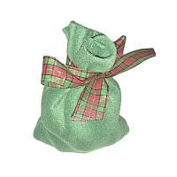 Флисовые зеленые мешочки (12х18)