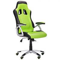 Кресло Форсаж №6 черный/зеленый (AMF-ТМ)