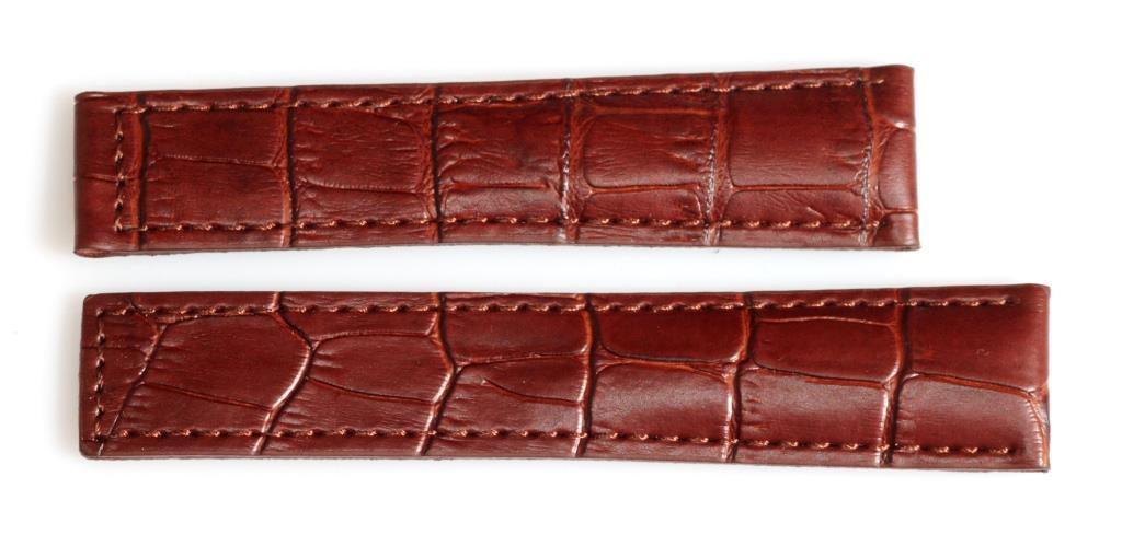Ремешок для часов TAGHEUER из натуральной кожи 20 мм. Коричневого цвета