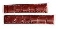 Ремешок для часов TAGHEUER из натуральной кожи 20 мм. Коричневого цвета, фото 1