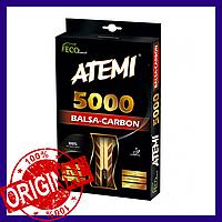ATEMI 5000 PRO Ракетка для настольного тенниса Balsa-Carbon ECO-Line (система наилучшей сбалансированности)