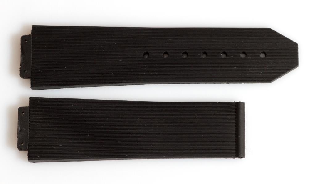 Ремешок для часов Hublot силиконовый 22 мм. Черного цвета