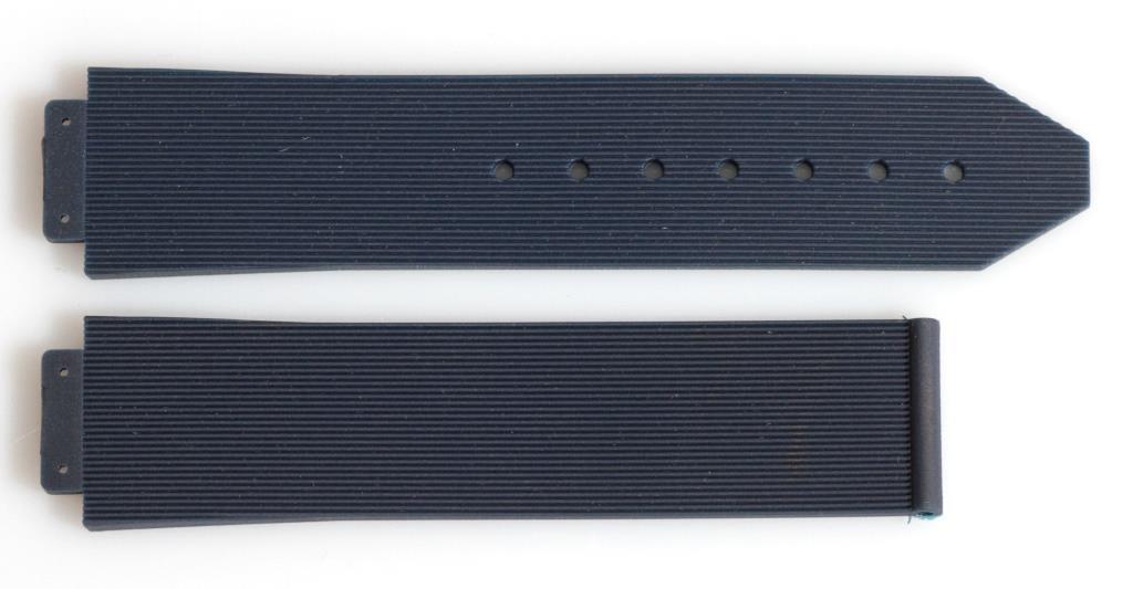 Ремешок для часов Hublot силиконовый 19 мм. Синего цвета