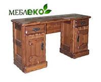 """Письменный стол из натурального дерева под старину """"Барыня""""."""