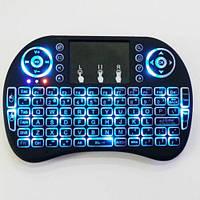 Беспроводная мини клавиатура с тачпадом MWK08/i8 LED  (Blue)