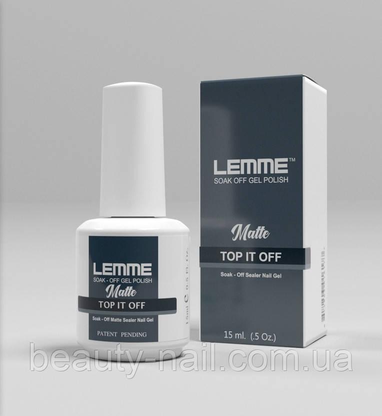 Lemme - финишное матовое покрытие с бархатным эффектом, 15 мл