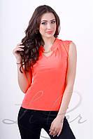 Женская блуза безрукавка Lipar Оранжевая