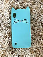 Силиконовый чехол Cat для Samsung A10, мятный