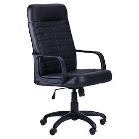 Кресло офисное Ледли пластик механизм Tilt кожзаменитель Неаполь N-20 (AMF-ТМ)