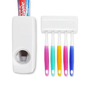 Автоматический дозатор для зубной пасты с подставкой для щеток Toothpaste Dispenser, фото 2