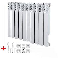 Радиатор алюминиевый 500/100 155 Вт 16 бар PASKAL