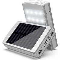 Power Bank SAMSUNG Silver (На солнечной батарее, LED светильник)