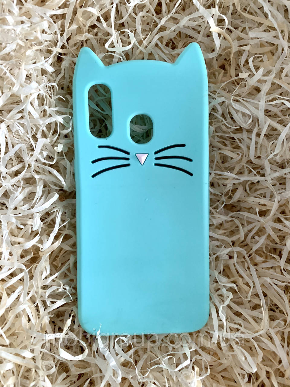 Силиконовый чехол Cat для Samsung A40, мятный