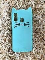 Силиконовый чехол Cat для Samsung A40, мятный, фото 1