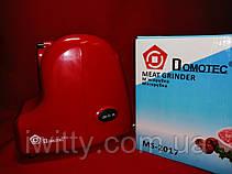 Мясорубка Domotec MS-2017 Red, фото 3