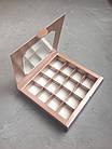 Коробка с окошком, металлик, 185*185*30, фото 2