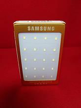 Smart Power Bank Samsung Gold на солнечной батарее (+фонарь)