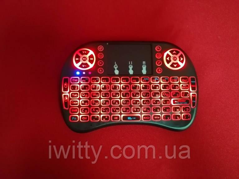 Міні-клавіатура з тачпадом RT-MWK08 (З підсвічуванням Red)