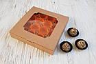 Коробка из крафт-картона на 16 конфет, с окошком, 185х185х30, фото 2