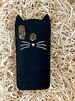 Силиконовый чехол Cat для Samsung A40, черный