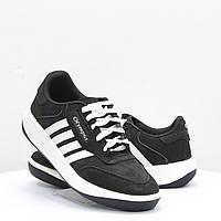 """Мужские кроссовки Олимпия лучшее качество """"Oxford"""", кожаные кросовки Olympia черно-белые."""