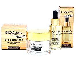 Набор BIOCURA Beauty Set Крем и Масло для ухода за лицом - Мульти-масляный комплекс (40+)