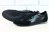 Кожаные мокасины модные  Lacoste чёрные