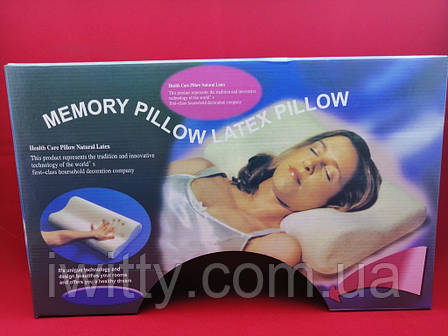 Ортопедична подушка Memory Pillow, фото 2